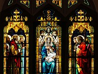 Adoration by Kings and Shepherds by Harry Eldredge Goodhue 1898 prerestoration