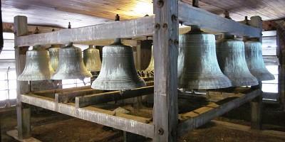 Bells on mounting frame