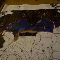 Close up unzipped tray panel I3