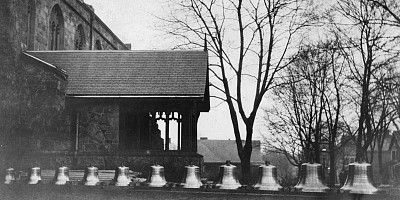 Tower chime photo from 1945 church history