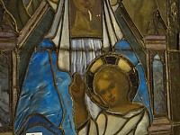 Detail Mother and Blessing Child prerestoration reflected light