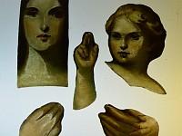 Paint depicted flesh Adoration Window