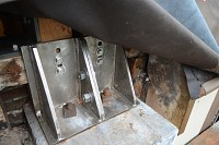 SS brackets in repaired buttress