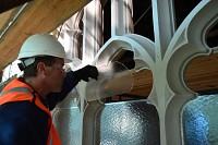 Fitting clerestory protective glazing