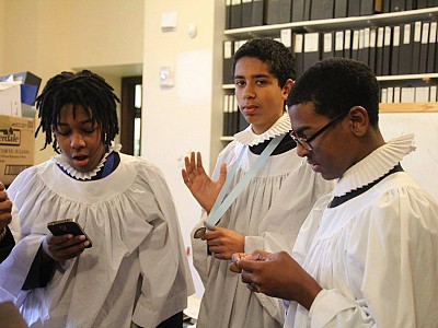 Young men of the choir