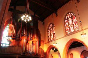 Restored nave, gallery organ