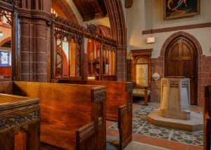 Restored Lady chapel and baptistry