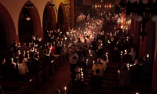 The annual Candlemas evensong