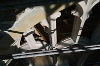 Six vent holes at clerestory tracery